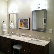 Contemporary Bathroom Vanity top and cabinets