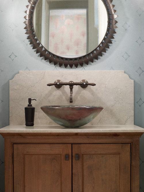 Powder Room Vessel Sink Houzz