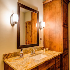 Rustic Bathroom by Dovetail Kitchen Designs
