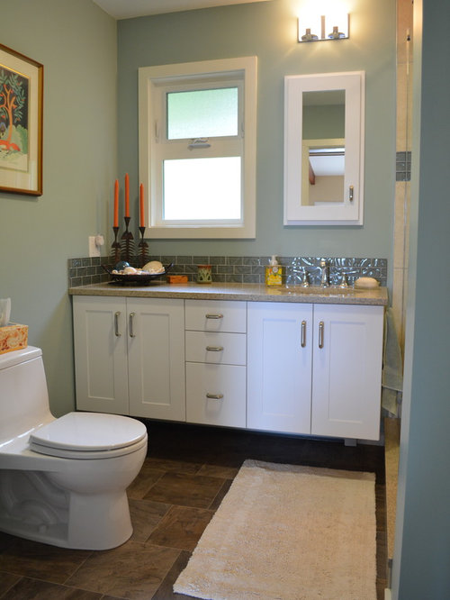 Bath design ideas pictures remodel decor with linoleum for Blue lino for bathroom