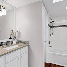 Beach Style Bathroom by Parr Cabinet Design Center - Tukwila