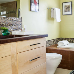 contemporary bathroom by Julie Ranee Photography