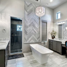 Transitional Bathroom by Charles Martin Custom Homes