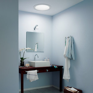 Example of a trendy bathroom design in Charlotte