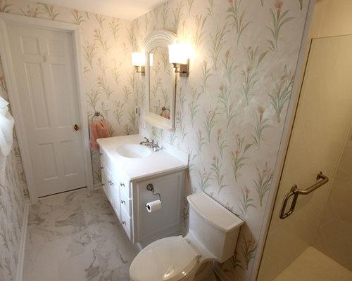 Venaro White Corian Countertop U0026 Shower With Bathroom Update ~ Akron, OH