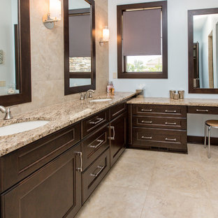 Bathroom - traditional bathroom idea in Other with granite countertops