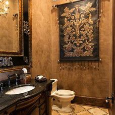 Mediterranean Bathroom by Terry M. Elston, Builder