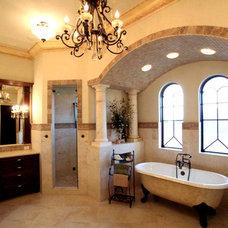 Mediterranean Bathroom by John Henry Architect