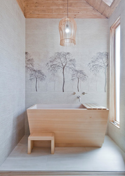 Asian Bathroom by Concept Renovations, Inc.