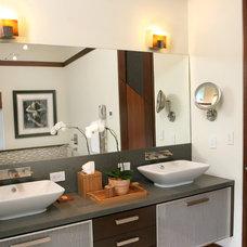 Contemporary Bathroom by B Pila Design Studio