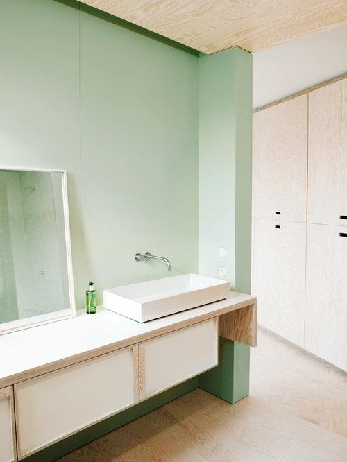 Best Scandinavian Bathroom with Green Walls Design Ideas ...