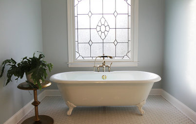 Vintage Room of the Day Room of the Day A Classic Look Freshens Up a Master Bath