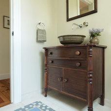 Farmhouse Bathroom by Joan Heaton Architects