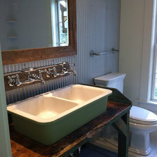 Eclectic Bathroom by Mary Jo Gourd