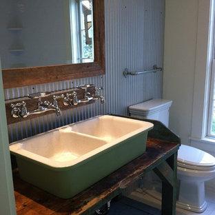 Eclectic bathroom in Boston.