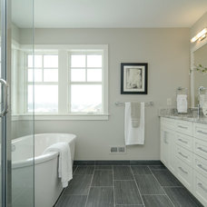 Transitional Bathroom by Boyer Building Corporation