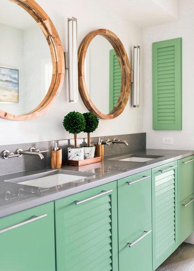 Beach Style Bathroom by Pure Design Works, LLC