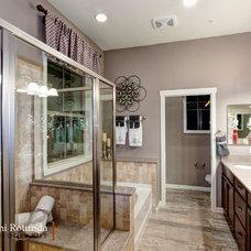 Mediterranean Bathroom by Britni Rotunda Photography