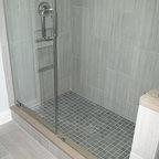 gray tile horizontal - Contemporary - Bathroom - Columbus - by Franks Home Maintenance