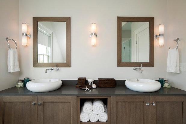ビーチスタイル 浴室 by Audrey Sterk Design
