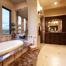Mediterranean Bathroom by Level Development Group LLC