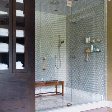 Vibe Ashbury Mosiac Shower in Blue Shadow