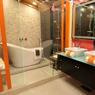 Vibrant Contemporary Master Bathroom