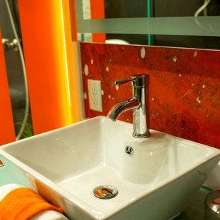 Vibrant Contemporary Master Bathroom