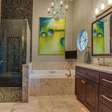 Vibrant Rustic Bathroom Renovation | Longwood, FL