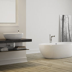 Victoria & Albert Barcelona Tub - The Barcelona is deep and curvaceous. Generous dimensions linked to ergonomic backrests make it a free standing bath that must be experienced.