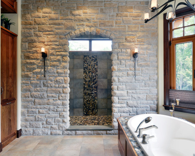 Traditional Bathroom by Chuck Mills Residential Design & Development Inc.