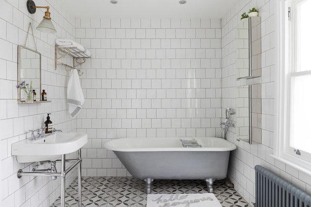Traditional Bathroom by Born & Bred Studio