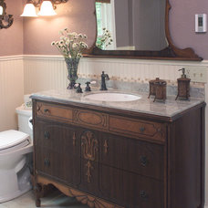 Traditional Bathroom by Robin Rigby Fisher CMKBD/CAPS