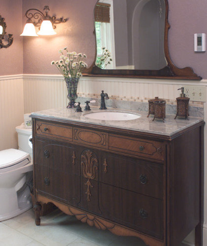 Dresser Turned Into Vanity Home Design Ideas Pictures
