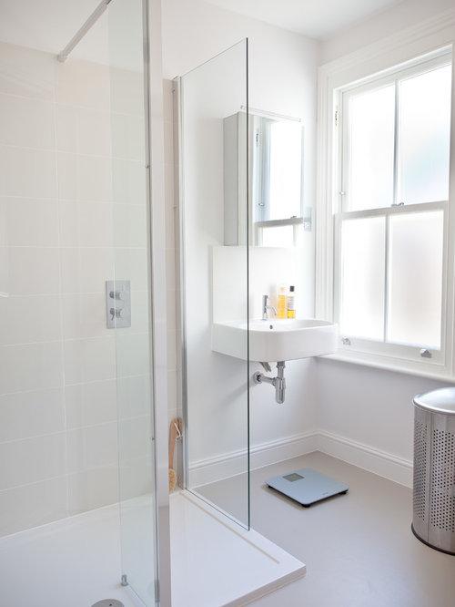 badezimmer mit glasfronten und linoleum ideen design. Black Bedroom Furniture Sets. Home Design Ideas