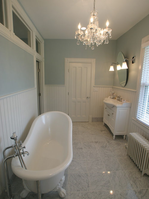 salle de bain victorienne avec un lavabo int gr photos et id es d co de salles de bain. Black Bedroom Furniture Sets. Home Design Ideas