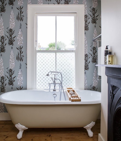 Eclectic Bathroom by Anna Burles