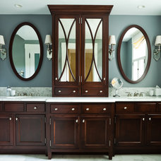 Transitional Bathroom by Taste Design Inc