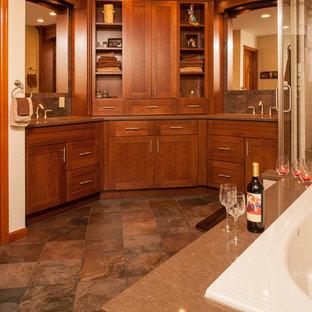 デンバーのトランジショナルスタイルのおしゃれな浴室の写真