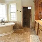Tile framed mirror - Mediterranean - Bathroom - other ...