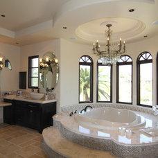 Mediterranean Bathroom by Liggatt Development, Inc