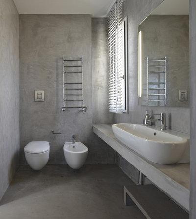 Bagni in resina per un bagno senza piastrelle - Resina in cucina al posto delle piastrelle ...