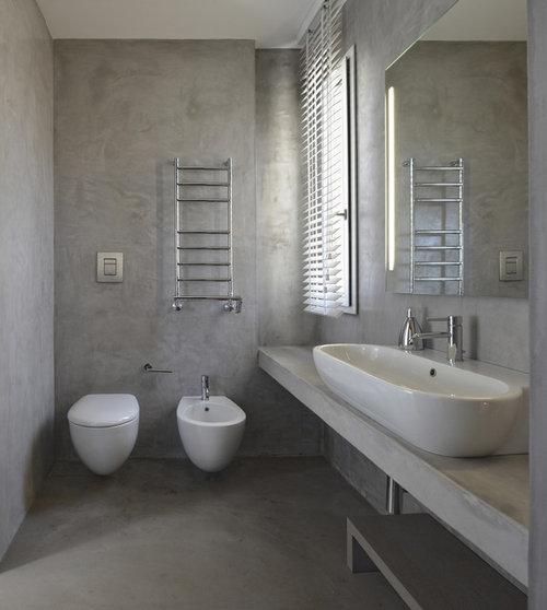 Buongiorno di che materiale è il top del bagno? Cemento, legno rivesti