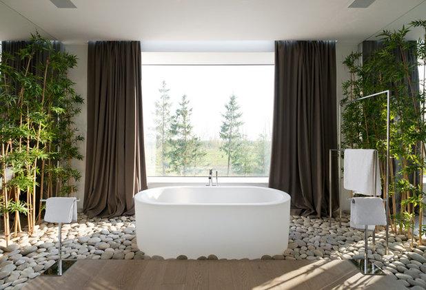 コンテンポラリー 浴室 by Архитектурное бюро SL*project