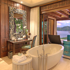 Tropical Bathroom by Tyrrell and Laing International, Inc.