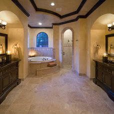 Mediterranean Bathroom by Jorge Ulibarri Custom Homes