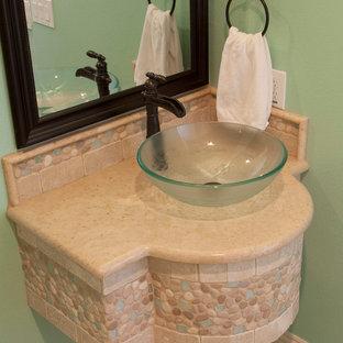 Bathroom - mediterranean bathroom idea in Orlando