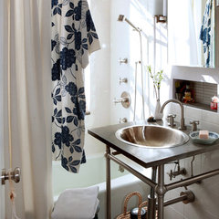 eclectic bathroom by moment design + productions, llc