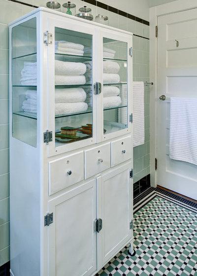 Craftsman Bathroom by Tracey Stephens Interior Design Inc