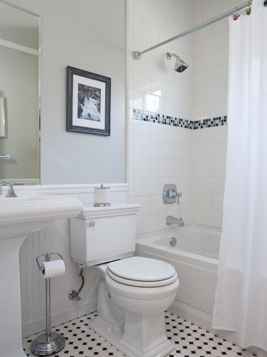 how tile a bathroom mosaic tile tub surround houzz 18775 | 1e6198690ec18ff4 4003 w550 h734 b0 p0 q87 traditional bathroom